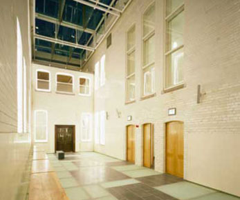 Picture showing Fire resistant glass floor at Cork County Courthouse Ireland