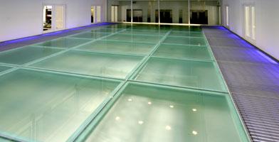 Pin glass block flooring on pinterest for Glass block floor